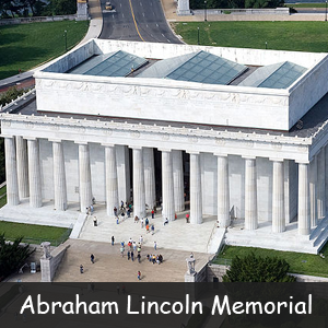 Famous American Monuments- Image of Abraham Lincoln Memorial