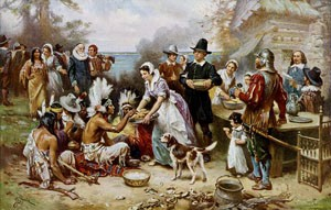 Fun facts of Pilgrims- Image of The First Thanksgiving