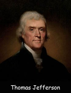 Facts about Declaration of Independence- Image of Thomas Jefferson