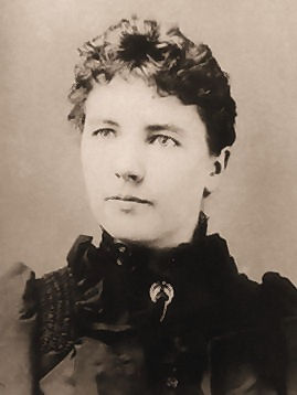 Laura Ingalls Wilder Cropped Sepia