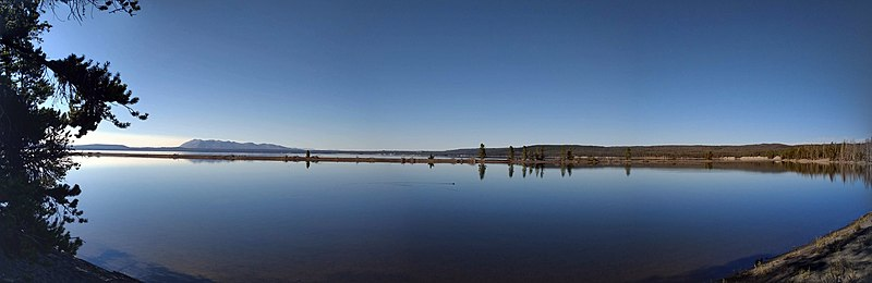 Panorama Of West Thumb Area Of Yellowstone Lake